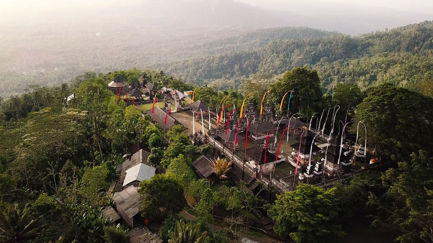 Lempuyang Temple with Green Nature Surrounds