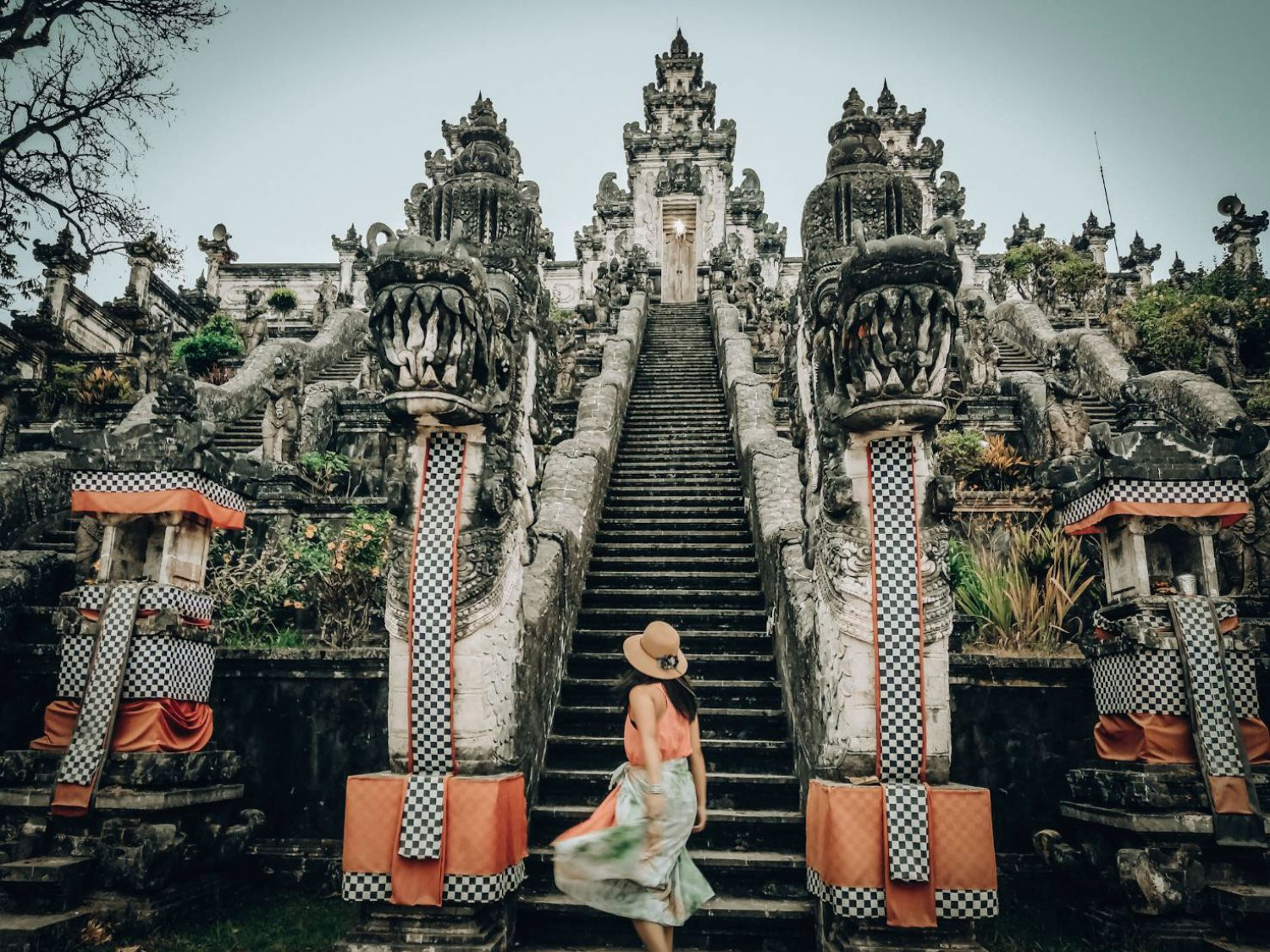 The Gate of The Heaven at Lempuyang Temple